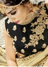 Embroidered Work Art Silk Black and Cream A - Line Lehenga - 2