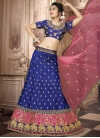 Embroidered Work Hot Pink and Navy Blue Art Silk Trendy Lehenga Choli - 1