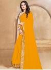 Lace Work Designer Traditional Saree - 1