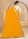 Lace Work Designer Traditional Saree - 2