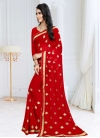 Faux Georgette Embroidered Work Traditional Designer Saree - 1