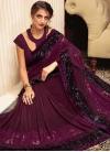 Lycra Designer Contemporary Saree - 1
