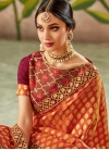 Embroidered Work Half N Half Trendy Saree - 1