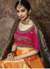 Jacquard Silk Trendy A Line Lehenga Choli For Ceremonial - 1