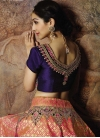 Navy Blue and Salmon Booti Work Lehenga Choli - 1