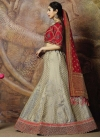 Grey and Red Trendy Lehenga Choli For Festival - 1