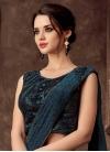 Lycra Embroidered Work Lehenga Saree - 1