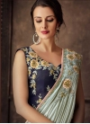 Embroidered Work Lycra Lehenga Style Saree - 1