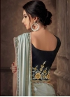 Embroidered Work Lycra Lehenga Style Saree - 2