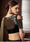 Black and Gold Lehenga Style Saree - 2