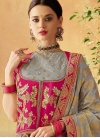 Embroidered Work Grey and Rose Pink Trendy Designer Lehenga Choli - 1