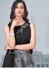 Beads Work Black and Grey Lycra Trendy Designer Lehenga Choli - 1