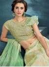 Cream and Mint Green Embroidered Work Trendy Designer Lehenga Choli - 1