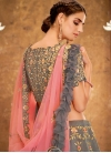 Tissue Embroidered Work Trendy Lehenga - 1