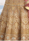 Floral Beige and Salmon Embroidered Work Trendy Lehenga - 1
