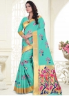 Thread Work Banarasi Silk Contemporary Style Saree - 1