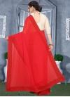 Faux Georgette Stone Work Designer Contemporary Style Saree - 1