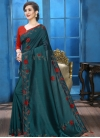 Crystal Work Trendy Designer Saree - 1