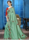 Crystal Work Traditional Saree For Ceremonial - 1