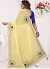 Blue and Yellow Designer Contemporary Saree For Casual - 2