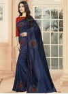 Art Silk Crystal Work Trendy Classic Saree - 1