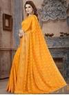 Crystal Work Banarasi Silk Designer Contemporary Style Saree - 1