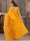 Crystal Work Banarasi Silk Designer Contemporary Style Saree - 2