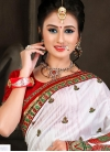 Glossy Booti Work Bhagalpuri Silk Classic Designer Saree - 2