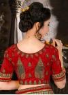 Glossy Booti Work Bhagalpuri Silk Classic Designer Saree - 1