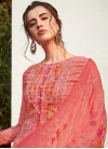 Faux Georgette Palazzo Style Pakistani Salwar Suit For Ceremonial - 1