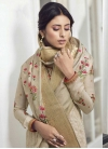 Satin Silk Palazzo Style Pakistani Salwar Kameez - 1