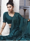Chiffon Satin Embroidered Work Trendy Classic Saree - 1