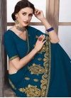 Faux Georgette Designer Contemporary Style Saree For Festival - 1