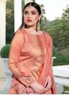 Cotton Silk Palazzo Style Pakistani Salwar Suit For Festival - 1
