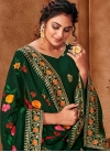 Faux Georgette Embroidered Work Palazzo Style Pakistani Salwar Suit - 1
