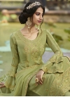 Silk Georgette Palazzo Style Pakistani Salwar Suit - 1
