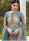 Cotton Silk Palazzo Style Pakistani Salwar Kameez - 1