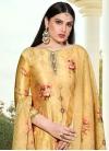 Cotton Silk Digital Print Work Palazzo Style Pakistani Salwar Kameez - 1