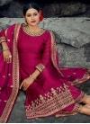 Satin Georgette Palazzo Style Pakistani Salwar Suit - 1