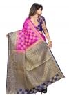 Art Silk Woven Work Designer Traditional Saree - 1