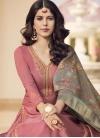 Cotton Satin Designer Palazzo Salwar Suit For Ceremonial - 1