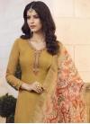 Cotton Satin Palazzo Designer Salwar Kameez For Ceremonial - 1