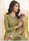 Embroidered Work Palazzo Straight Salwar Suit - 1