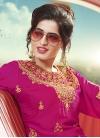 Satin Silk Sharara Salwar Kameez For Festival - 1
