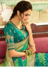 Mint Green and Sea Green Traditional Designer Saree For Festival - 2
