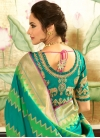 Mint Green and Sea Green Traditional Designer Saree For Festival - 1