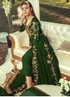 Faux Georgette Pant Style Classic Salwar Suit - 1