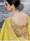 Banarasi Silk Embroidered Work Trendy A Line Lehenga Choli - 1