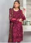 Faux Georgette Pant Style Salwar Kameez For Ceremonial - 1