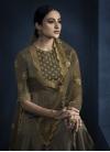 Satin Georgette Floor Length Designer Salwar Suit - 1